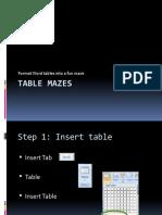 Table Mazes Lesson