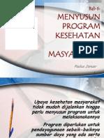Bab 6 Menyusun Program Kerja Kesehatan Masyarakat