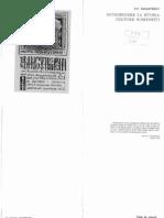 PANAITESCU, Introducere La Istoria Culturii Romanesti