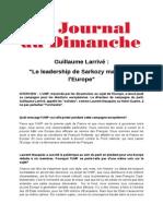 Interview de Guillaume Larrivé au Journal du dimanche