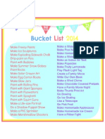 Summer Bucket List 2014 - edit