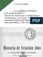 Salazar a. Ramon -Historia de Veintiun Años Tomo I