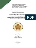 Zonasi Potensi Bahaya dan Resiko Gerakan Massa  di Kecamatan Pundong, Imogiri, dan Dlingo,  Kabupaten Bantul, Provinsi Daerah Istimewa Yogyakarta Dengan Motode Analytical Hierrarchy Process (AHP)