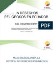 Gestión de Desechos Peligrosos en Ecuador