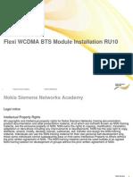 02 RA45312EN05GLA0 Flexi WCDMA BTS Module Installation