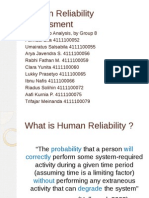 Human Reliability Assessment (Group 8)