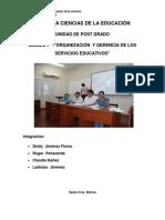 Deficiencia en La Organizacion y Gerencia de Los Servicios Educativos - Copia