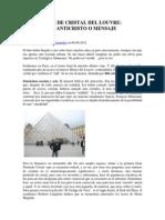 Gustavo Fernández - La Pirámide de Cristal Del Louvre