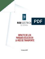 Impacto de Los Parques Eolicos en La Red de Transporte_La_Rabida_9may07