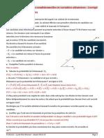 Ex - Probabilités Conditionnelles Et Variables Aléatoires - Corrigé