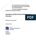 Exec Evaluation of the Pressure Equipment Directive En