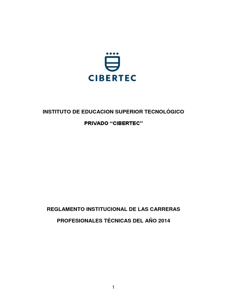 Reglamento Institucional 2014 CIBERTEC