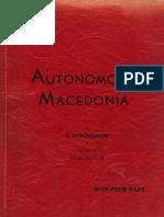 The Case for an Autonomous Macedonia