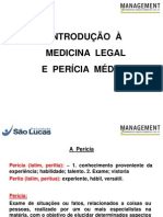 Introducao a Medicina Legal e Pericia Medica