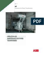 O&M of power transformers