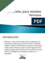 Minerales Para Metales Ferrosos