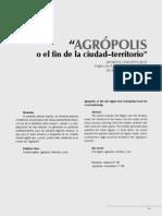 Mauricio Puello Bedoya - Agropolis o El Fin de La Ciudad-territorio