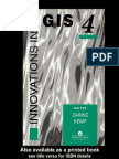 Innovation in GIS (Zarine Kemp (Ed.))