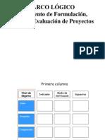 Marco lógico de Proyectos