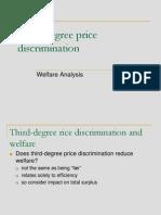 3rd Price Discrimination