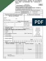 MBA - Appln Form