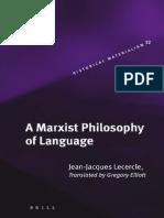 A Marxist Philosophy of Language