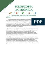 MICROSCOPÍA ELECTRÓNICA