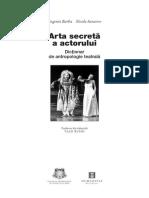 Dictionar Arta Secreta a Actorului