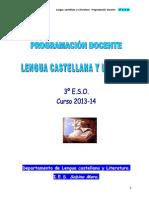 3º Eso. Lengua Castellana. Programación Docente.