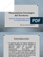 Planeamiento Estratégico Del Territorio MARCONA