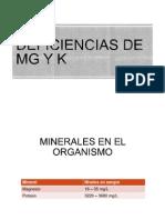 Deficiencias de Mg y k