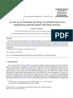 Gov Spending on Infrastructure in an Endogenous Growth Model