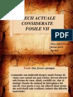 Specii actuale considerate fosile vii