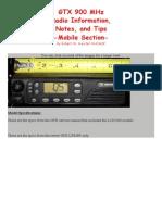 Manual de Motorola GTX 900 MHz