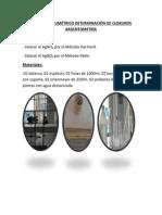 Método Volumétrico Determinación de Cloruros Argentometría