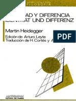 Heidegger_Identidad y Diferencia