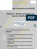 Welding, Procedure and Operator Qualification