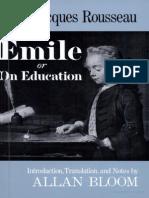 Rousseau, Jean-Jacques - Emile, Or on Education (Basic Books, 1979)