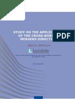 131007 Study Cross Border Merger Directive En