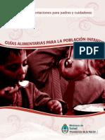 Guía Alimentaria Para La Población Infantil- Cuidadores