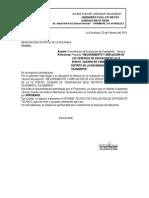 Presentacion de Evaluacion de Expediente Tecncico