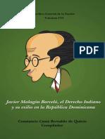 Malagón Barceló - Derecho Indiano Constitución Dominicana