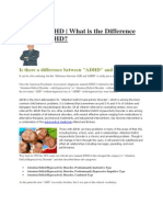 ADD or ADHD - What is the Difference ADD or ADHD
