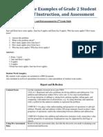 representative examples of grade 2 student work