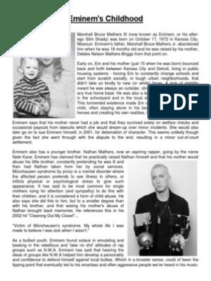 Eminem's Childhood | Clinical Psychology | Psychology