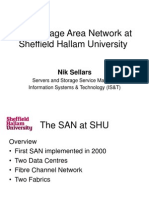 The Storage Area Network at Sheffield Hallam University2014