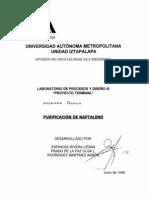Purificacion Del Naftaleno