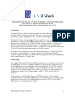 Evaluation of 2008-2011 UN Human Rights Council Candidates