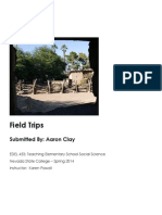 EDEL453 Spring2014 AaronCLAY FieldTrips
