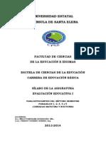 Silabo - Evaluación Educativa I UPSE